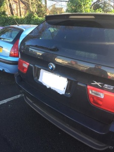 Cardboard numberplates are definately not the look