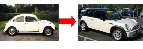 beetle to mini